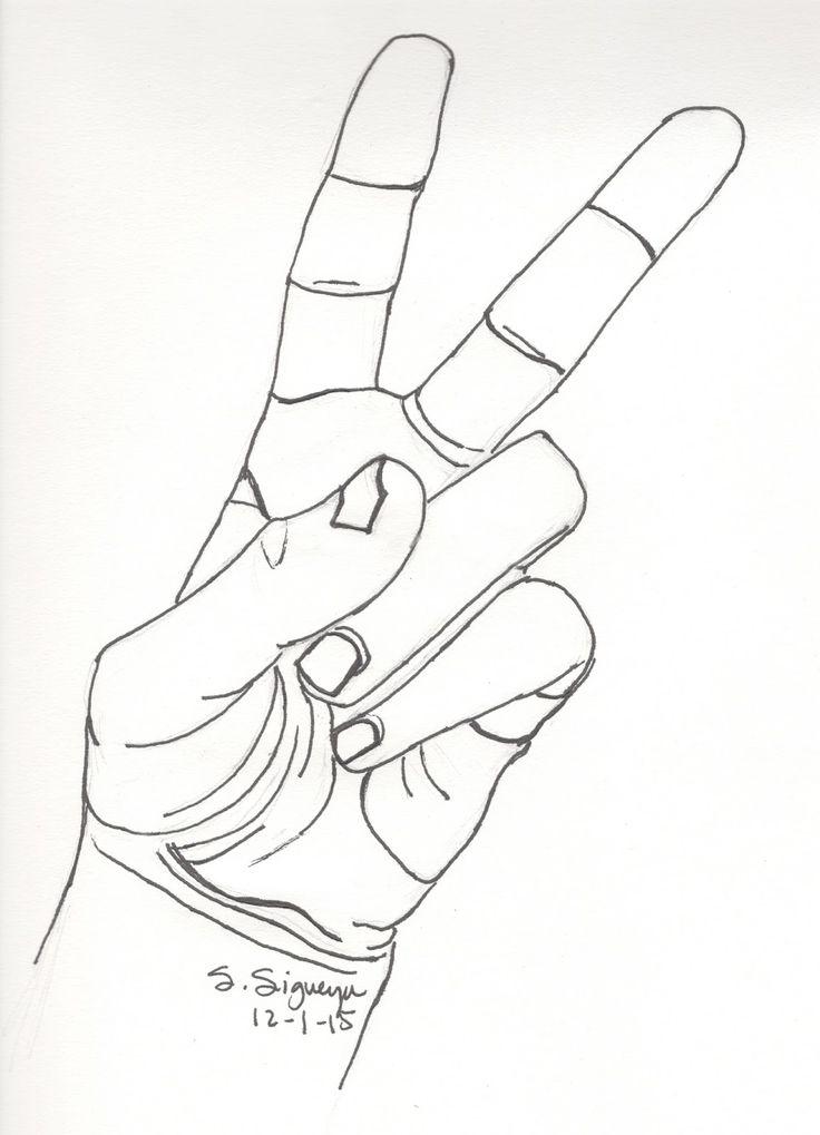 Drawn peace sign sketch Alaskainpics Hand Peace Sketch Sketch