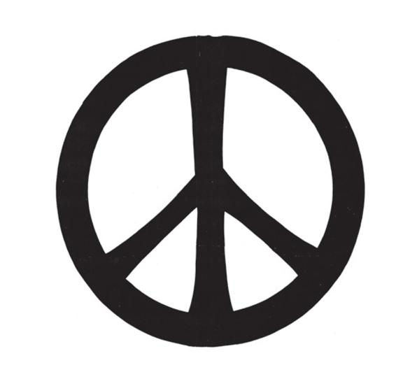 Drawn peace sign sketch Story individual an abstract sense