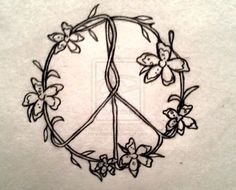 Drawn peace sign small #3