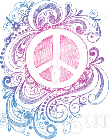 Drawn peace sign small #4
