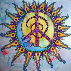 Drawn peace sign small #11