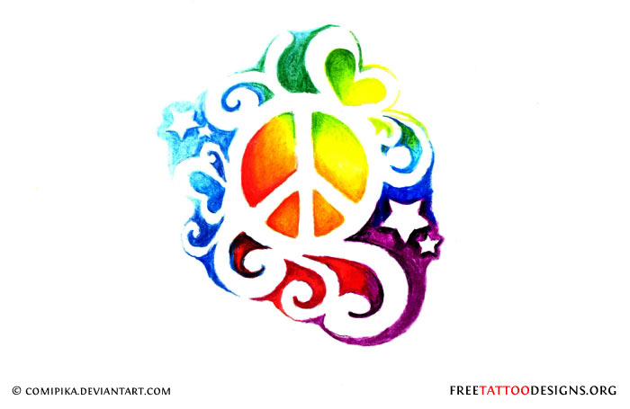 Drawn peace sign small #5