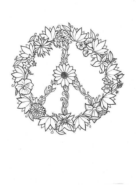 Drawn peace sign small #2