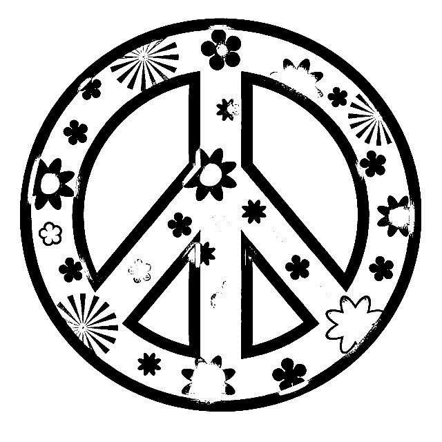 Peace Sign clipart colouring page Best more CRAFT PEACE 4