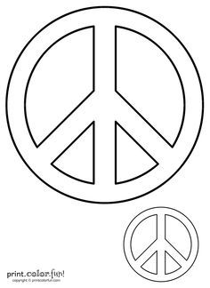 Peace Sign clipart printable Crafts Fun! sign signs Print