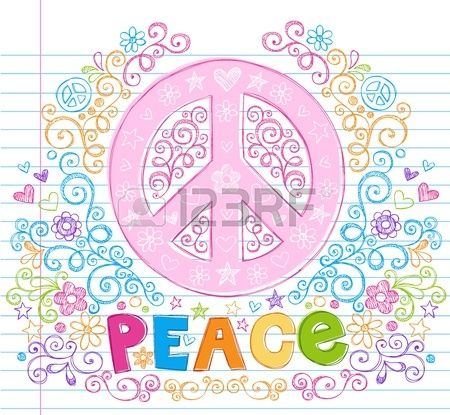Drawn peace sign text TAM Lettering Hand Doodles Stars