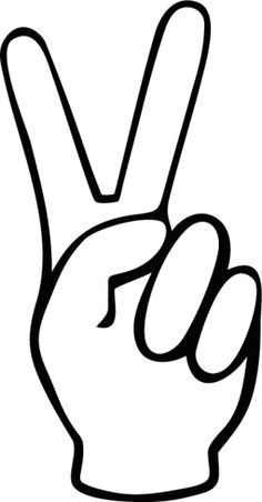 Drawn peace sign two finger More can de and de