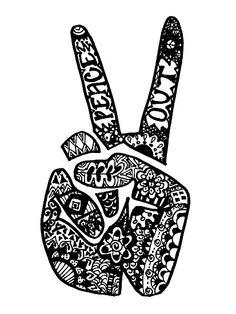 Drawn peace sign unique Sign Art signs this PEACE