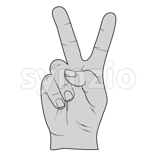 Drawn peace sign v for victory Victory Fingers Drawing Fingers Sign