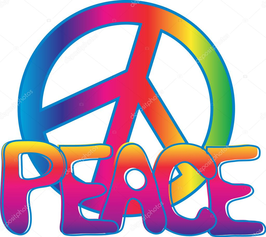 Drawn peace sign vector — © and Vector Hand