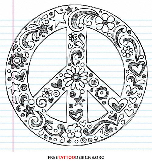 Drawn peace sign vintage Will my represent Peace like