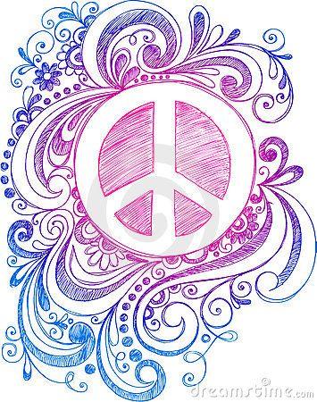 Drawn peace sign vintage Art Peace art images on