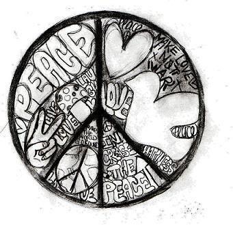 Drawn peace sign war 195 PEACE CRAFT CRAFT SIGN