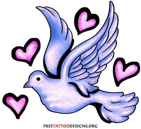 Drawn peace sign wing Stars dove design tattoo Tattoos