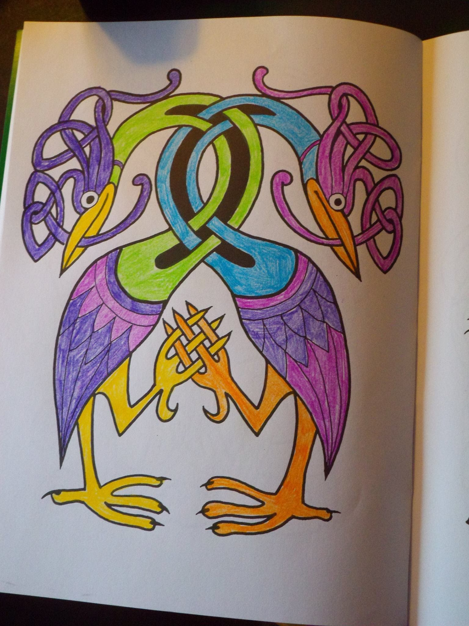 Drawn peacock celtic Play role Animals Celtic (Peacock)