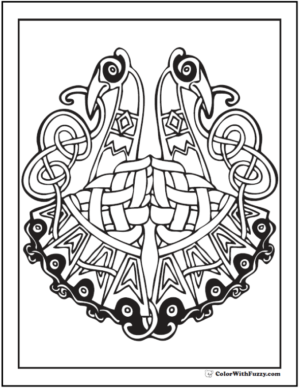 Drawn peacock celtic Coloring design a has cool