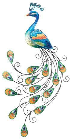 Drawn peacock decorative Peacock Wall A Swirly Peacocks