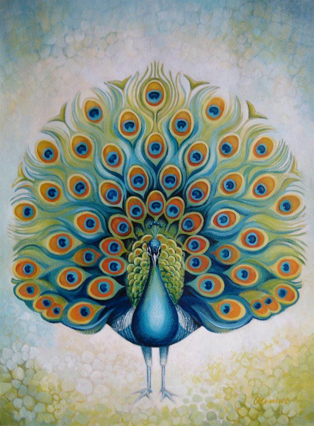 Peacock clipart front view Abstract Oleniuc Art Abstract Peacock