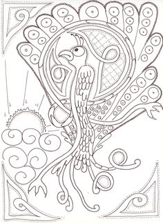 Drawn peacock celtic On Peafowl by Peacock sozocreation
