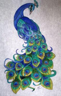 Drawn peacock filigree Simple that Peacock make peacock: