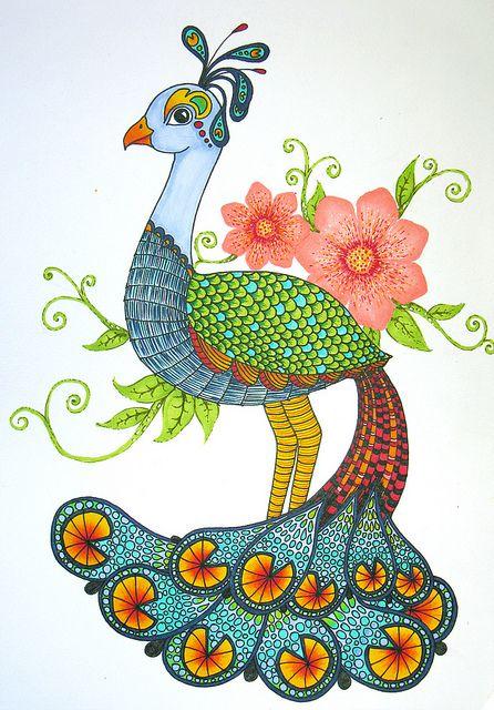 Peacock clipart bird flower Peacock Peacocks Art on Illustration