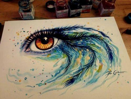 Drawn peafowl creative eye Drawing feathers Beautiful Peacocks on