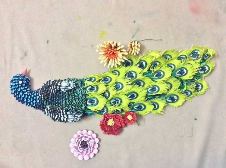Drawn peafowl creative eye Crafts Eye Nagpur Creative Eye