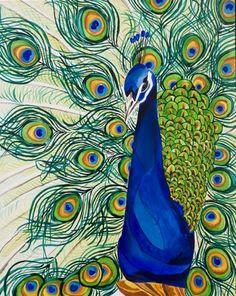 Drawn peafowl pen Dustywallpaper annikaconnor drawing) Portrait waterclor