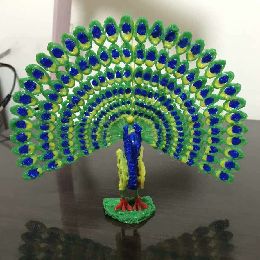 Drawn peafowl pen 3D Aluminum Fourth X4 Printing