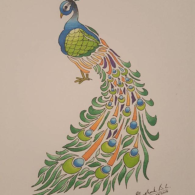 Drawn peafowl pen Adorable bookie Adorable #peacock by