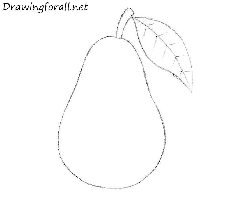 Drawn pear A Pear to Draw How