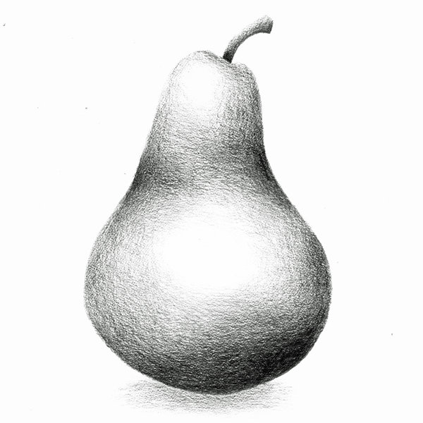 Drawn pear 2 gallery pencil paper number