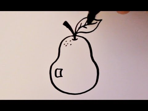 Drawn pear easy Pear Draw How to YouTube