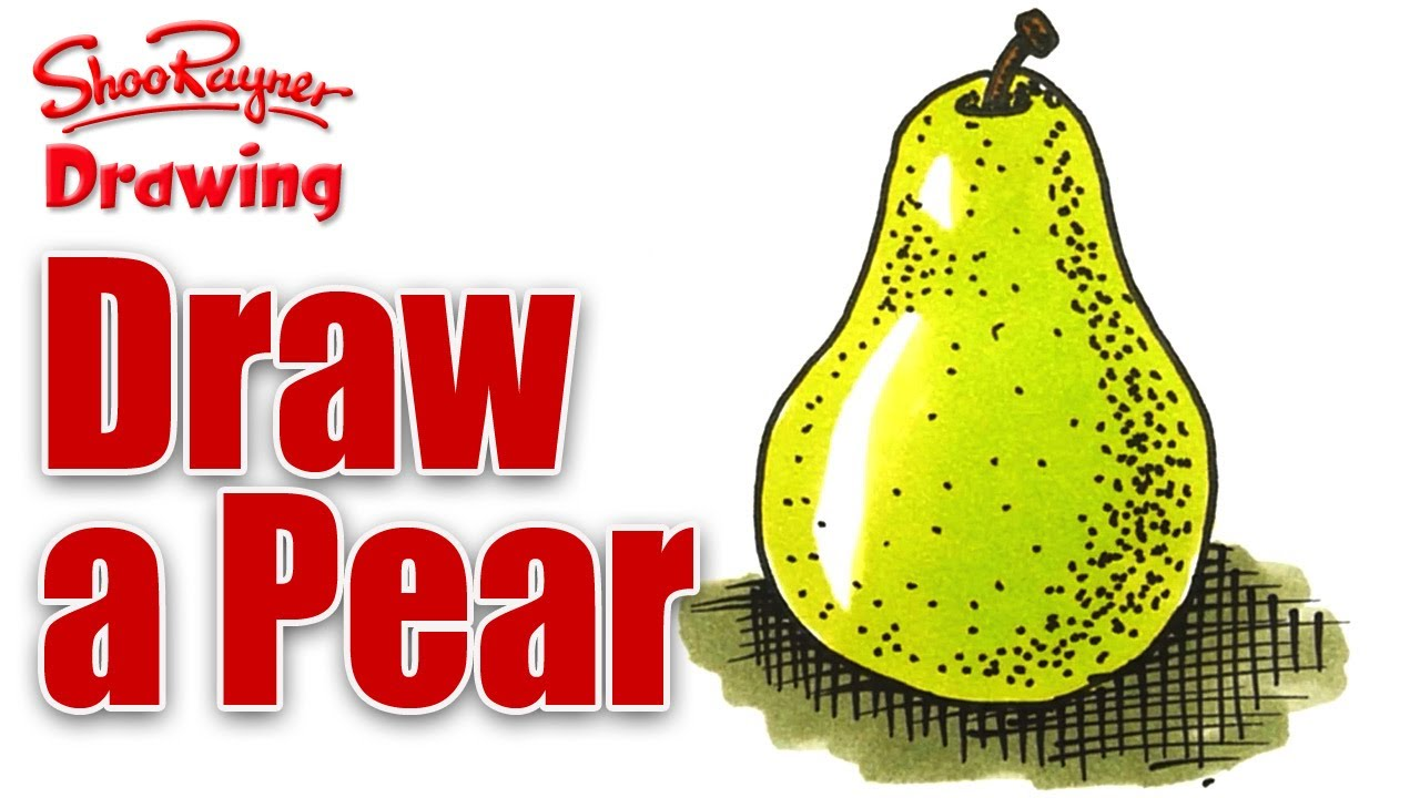 Drawn pear easy With draw How with to