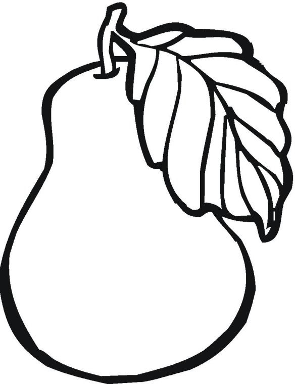 Drawn pear easy Best coloring Fruit pear on