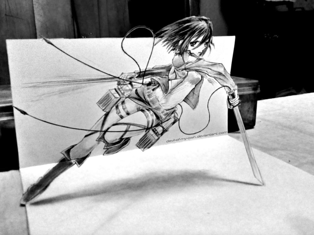 Drawn pen ackerman 3D Ankredible by on