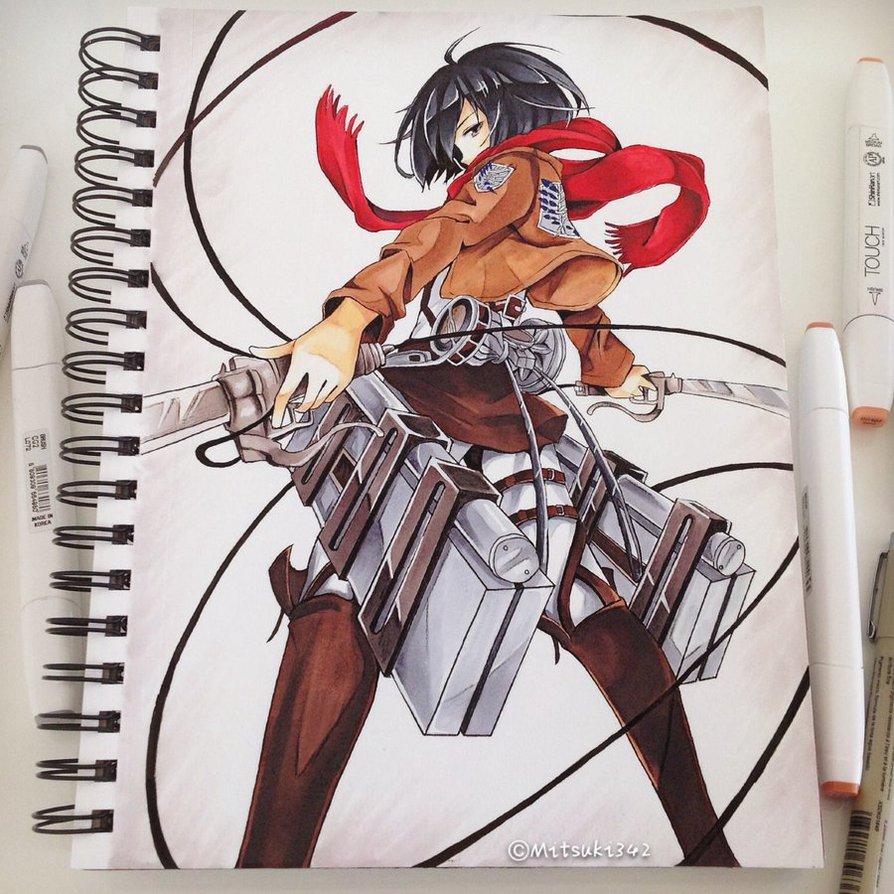 Drawn pen ackerman By Ackerman Mikasa Mikasa on