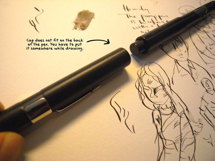 Drawn pen ackerman Crowquill 101 PUMP ACKERMAN Hunt