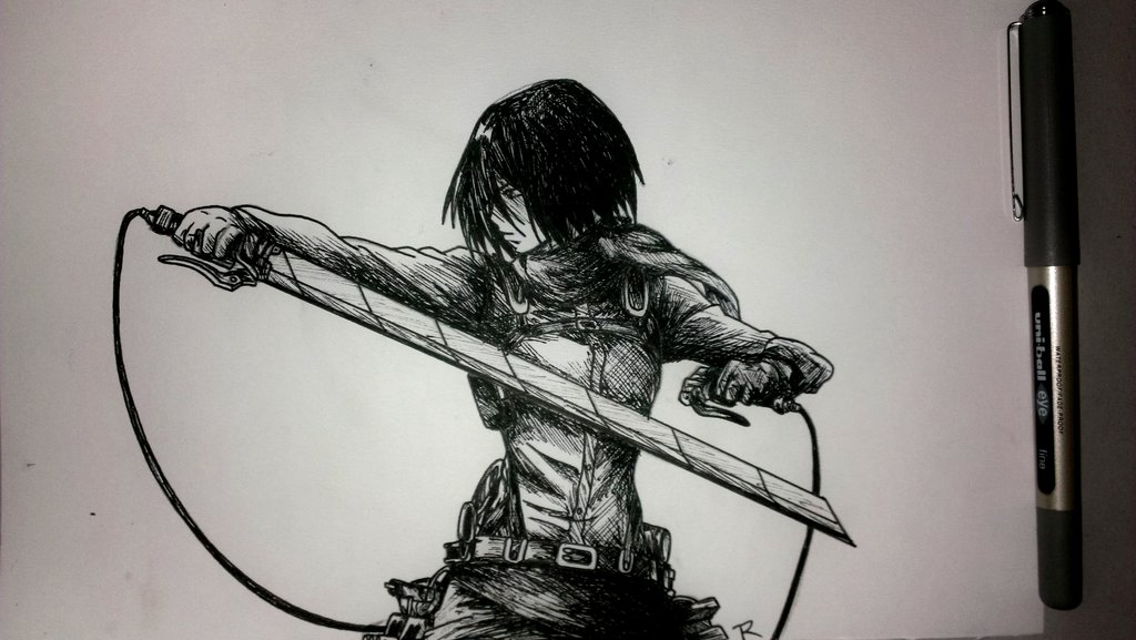 Drawn pen ackerman No eatingcherriesalive by eatingcherriesalive kyojin