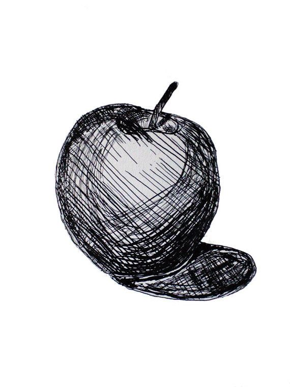 Drawn pen apple Best Art on Still about