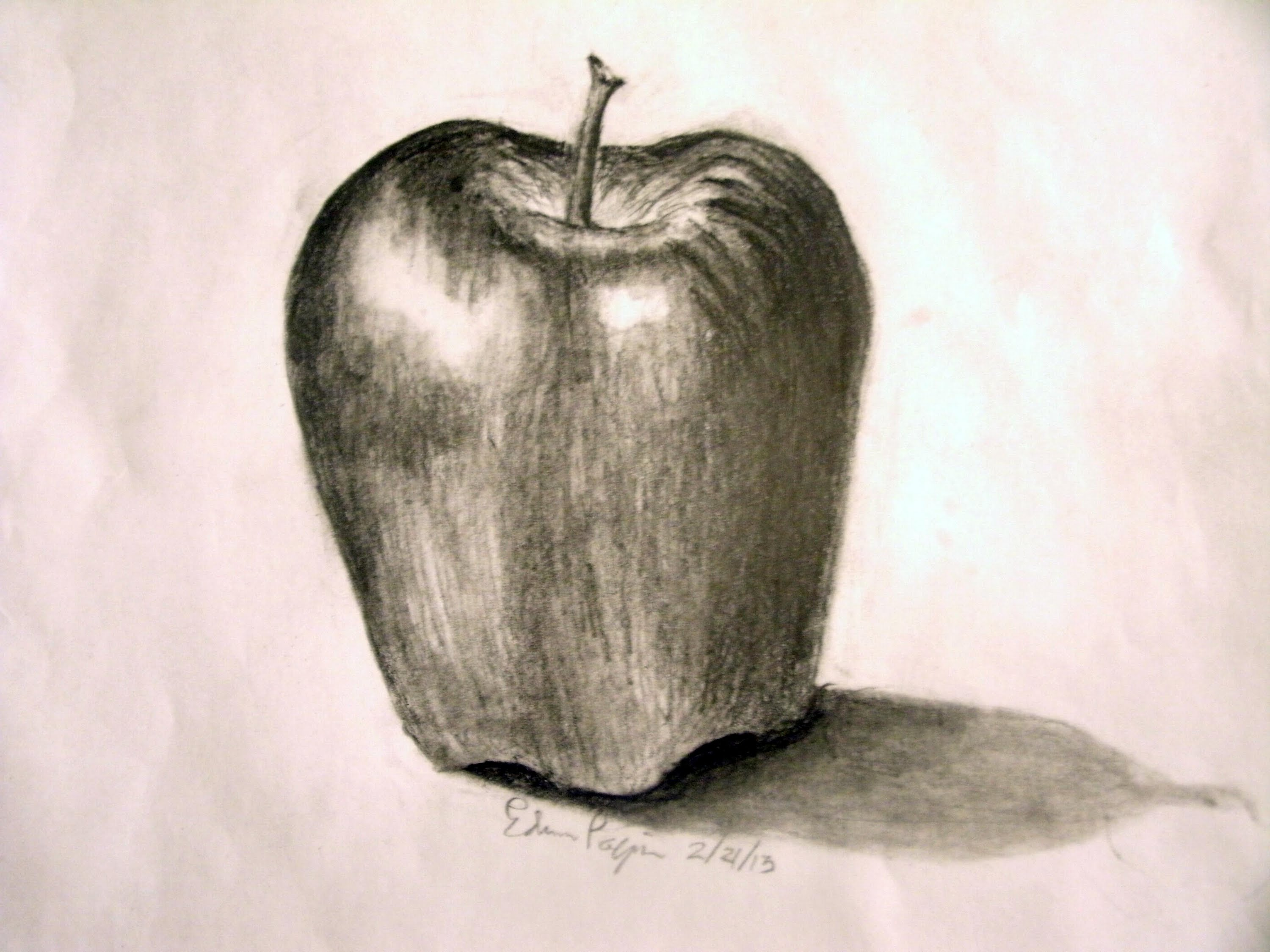 Drawn pen apple To in Pencil Realistic a