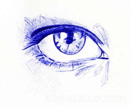 Drawn pen ballpoint pen sketching Ball Head to of alisaburke: