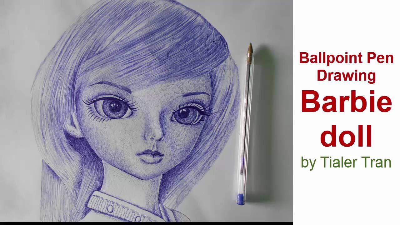 Drawn pen ballpoint pen sketching Ballpoint  Ballpoint draw part