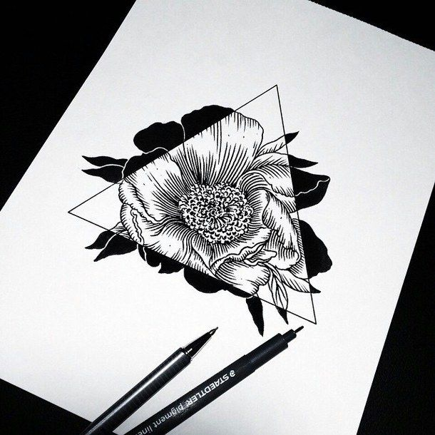 Drawn pen basic On hipster Pinterest 25+ Flower