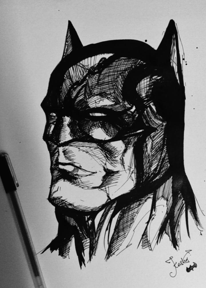 Drawn pen batman #2