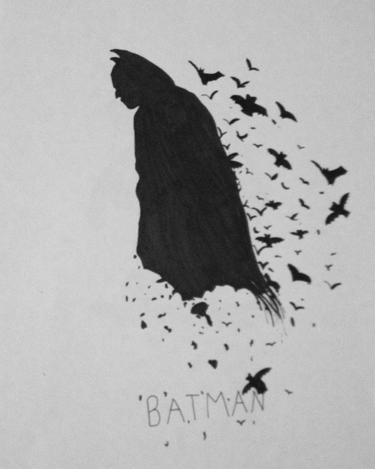 Drawn pen batman #12