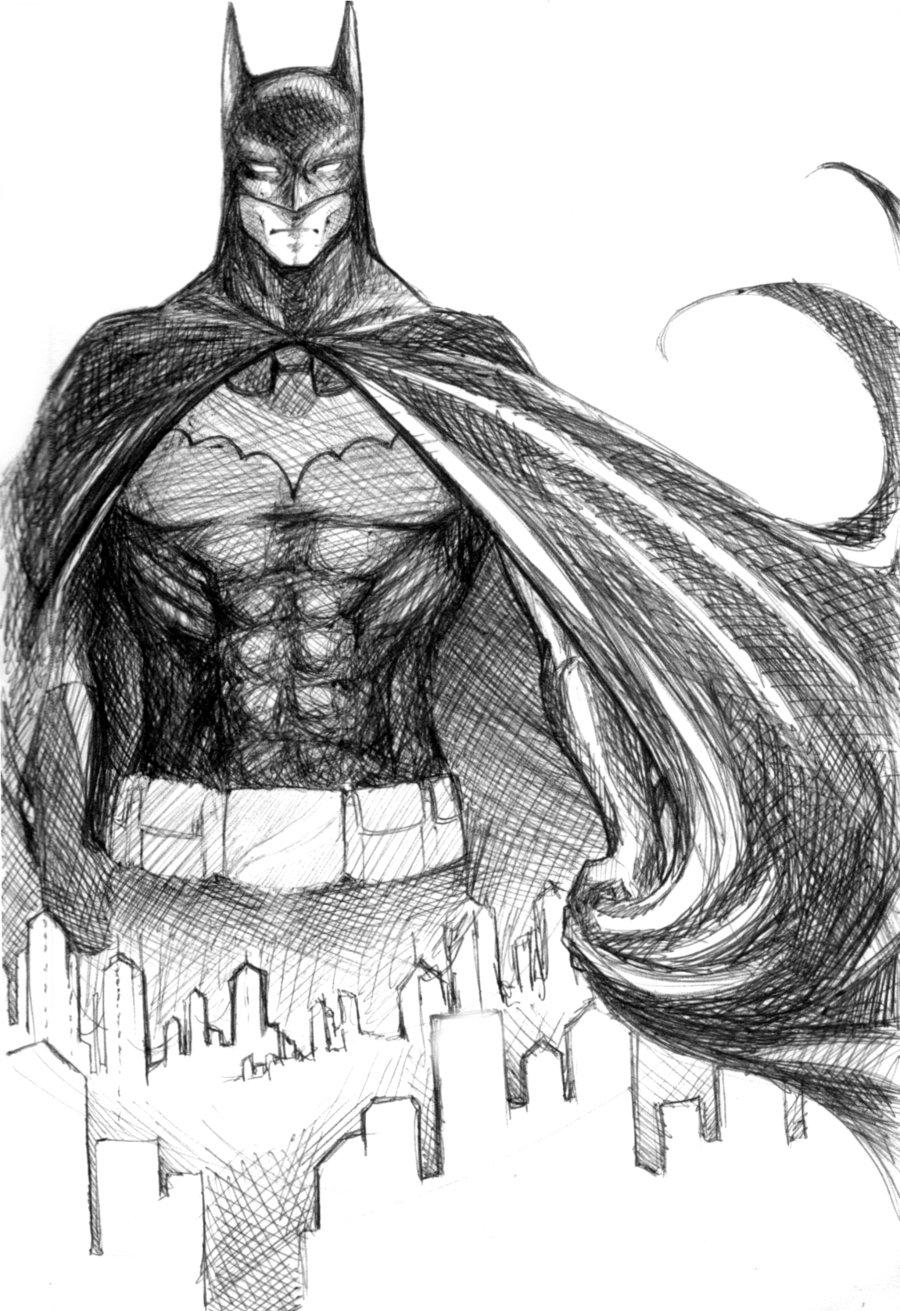 Drawn pen batman #13