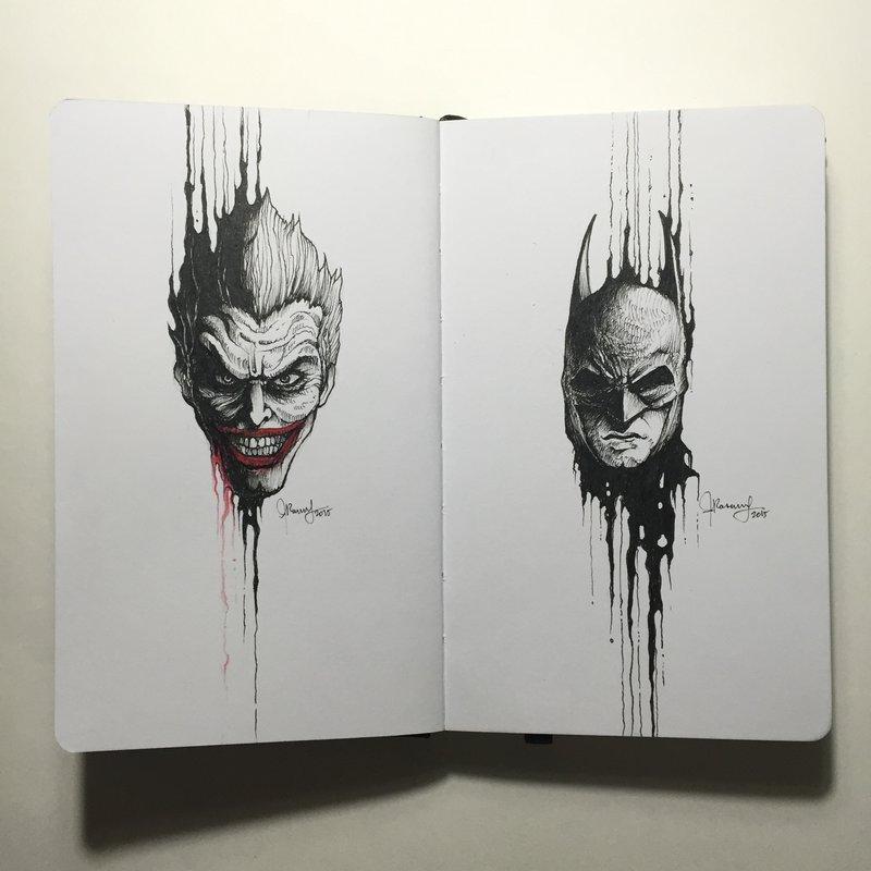Drawn pen batman #11