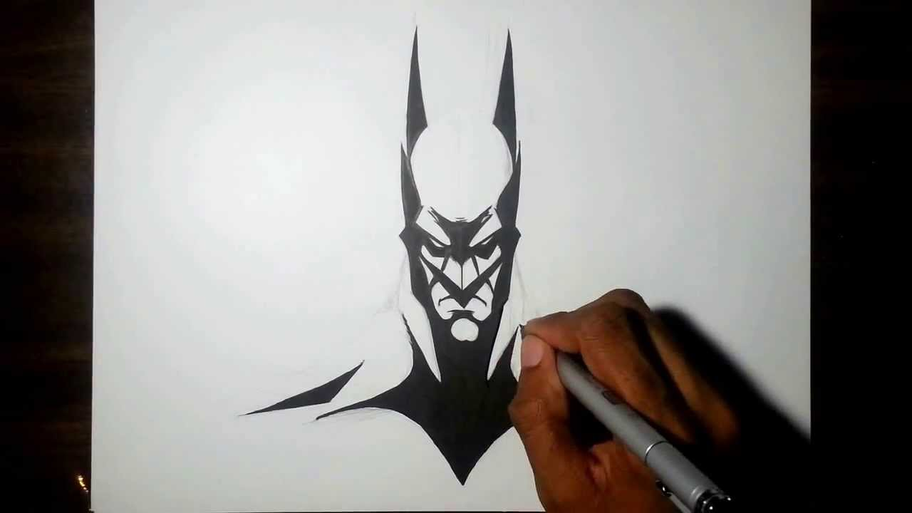 Drawn pen batman Batman drawing and pencil speed