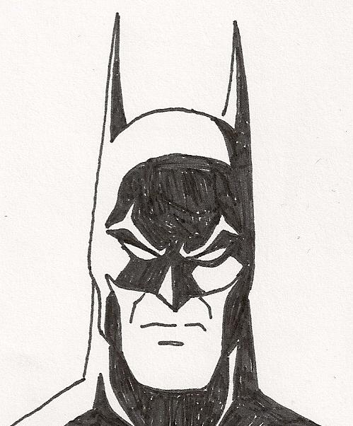 Drawn pen batman Pen batman 3 on sketch
